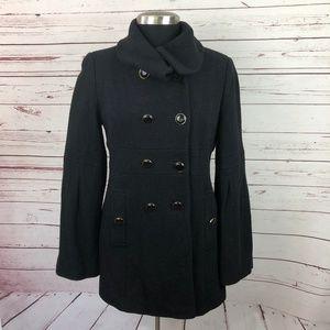 Ann Taylor LOFT Black Wool Peacoat 4